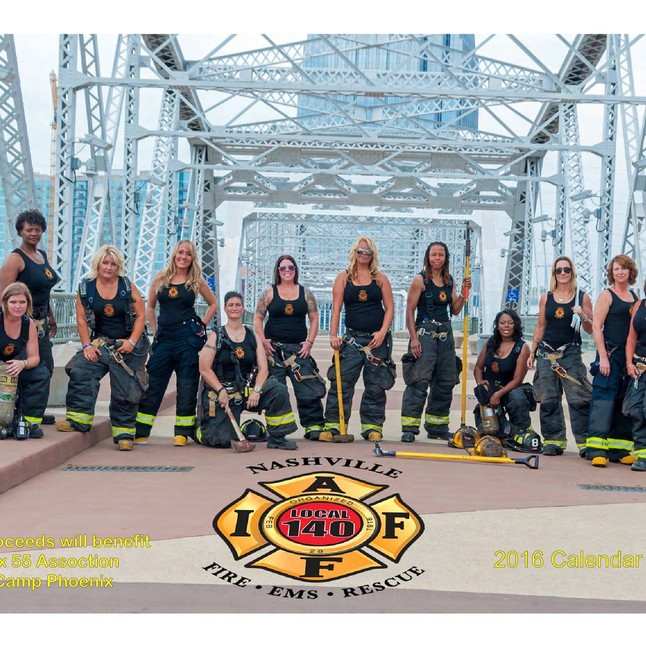 Order now the first calendar from the woman of the Nashville Fire Department