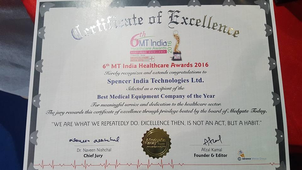 Emergency Live | Spencer India venceu a competição durante a 22ª MEDICAL FAIR INDIA em Mumbai. Imagem 8