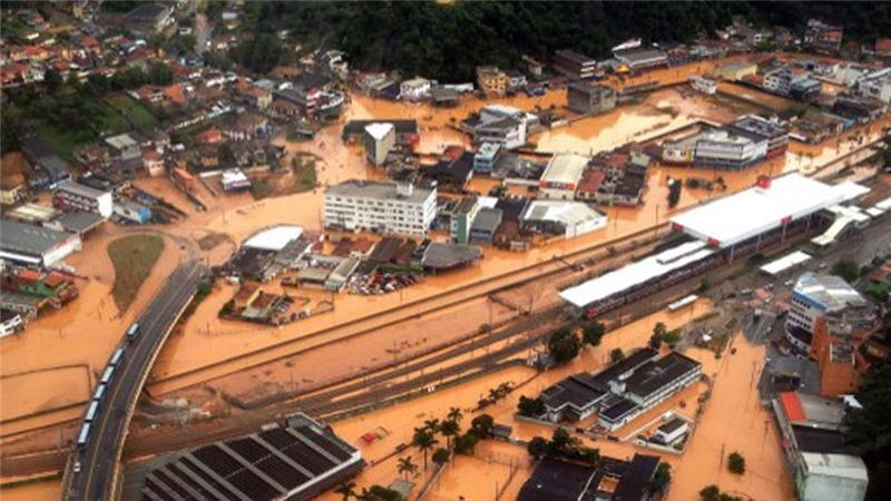 Downpours cause deadly floods, mudslides in Sao Paulo