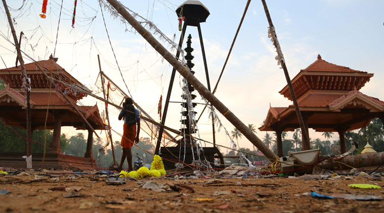 INDIA – 108 killed and over a houndred injured after a huge fire at Puttingal Temple, Kerala