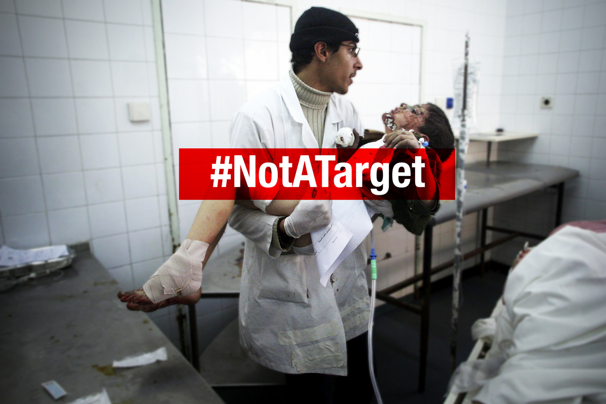 Doctors are #NotaTarget