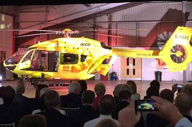 New Yorkshire Air Ambulance helicopter unveiled. It's the Airbus H145