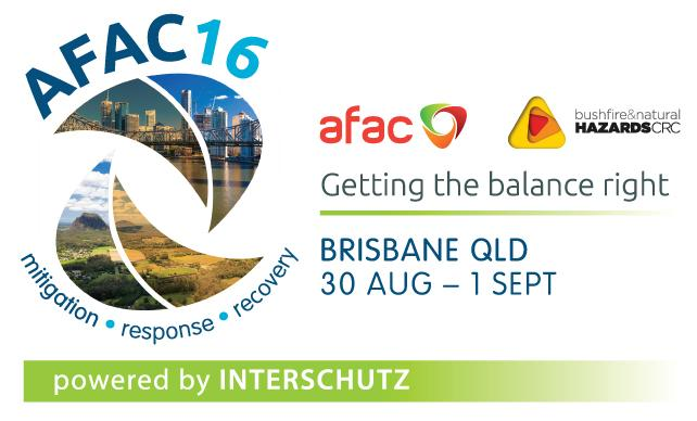 Australia – AFAC16: Mitigation, Response, Recovery. Getting the balance right