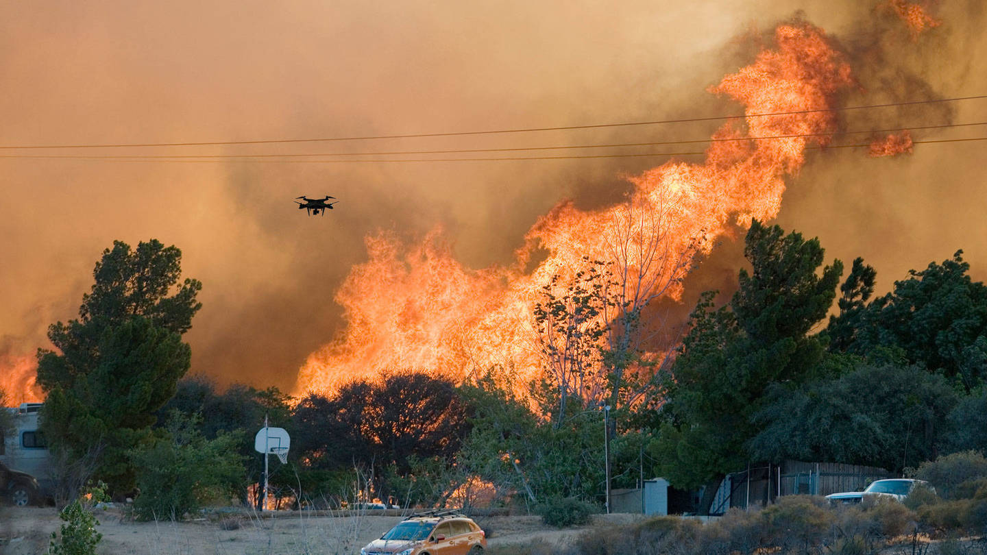 Utah firefighters against drones – Authorities allowed to shoot drones down