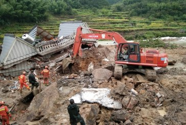 China reports 6 dead, 23 missing in typhoon landslides