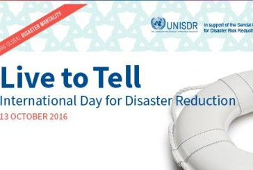 IDDR – This year the Sendai campaign focuses on Disaster Mortality Reduction