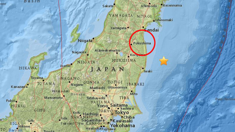 Japan – Earthquake and a small tsunami hit Fukushima