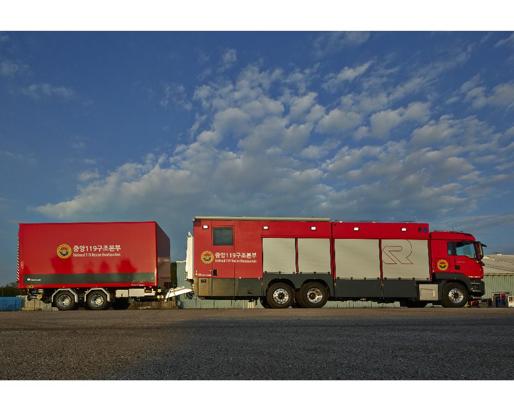 Urgence en direct | Rosenbauer fournit des véhicules de décontamination haut de gamme à la Corée du Sud image 1