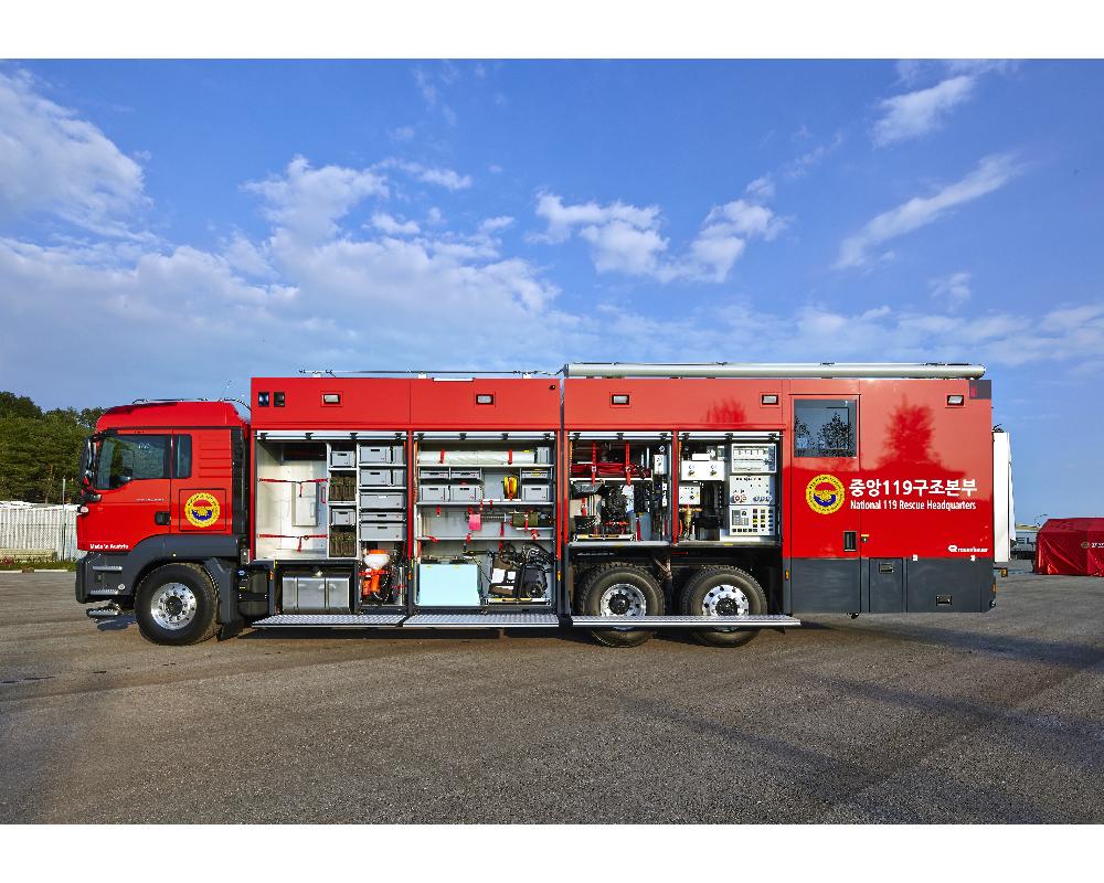 Urgence en direct | Rosenbauer fournit des véhicules de décontamination haut de gamme à la Corée du Sud image 5