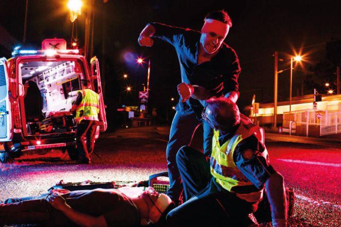 assaulting paramedics