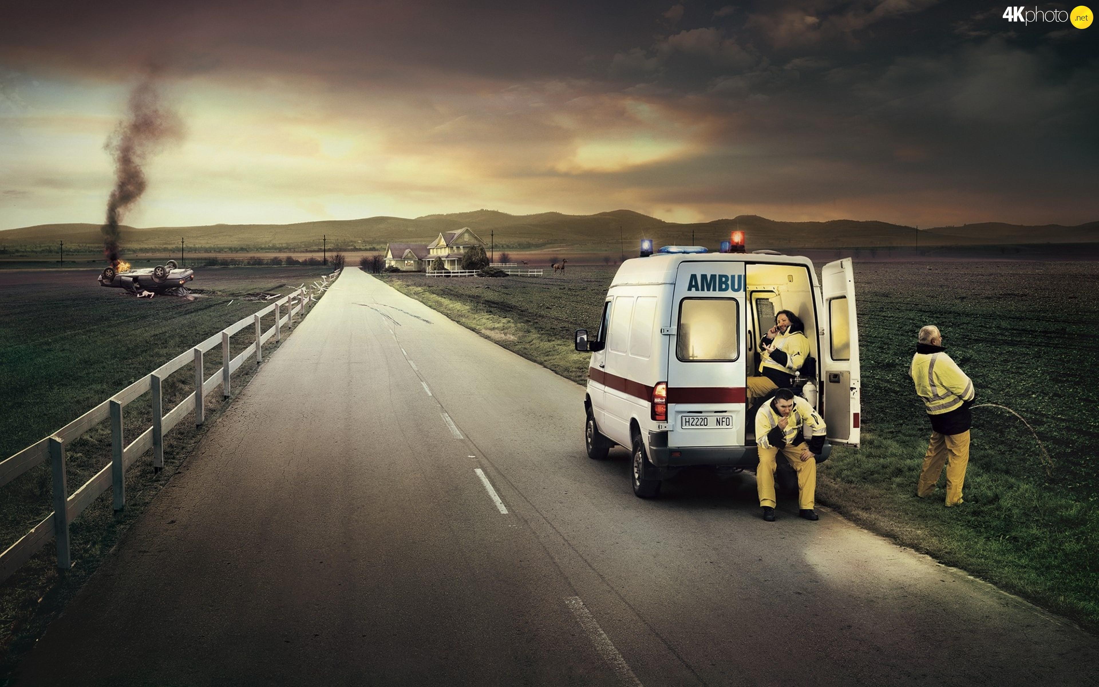 way-burning-automobile-paramedics-ambulance