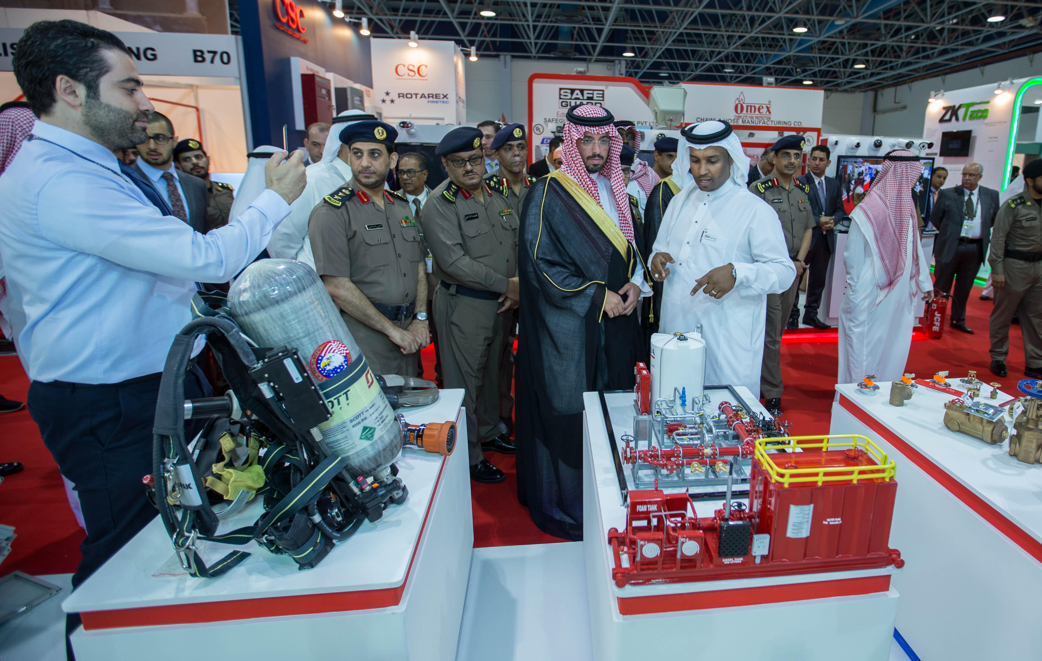 HH Saud Bin Abdullah Bin Jalawi Al Saud opens Intersec KSA