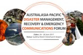 Australasian-Pacific Disaster Management, Recovery & Emergency Communication Forum 2017