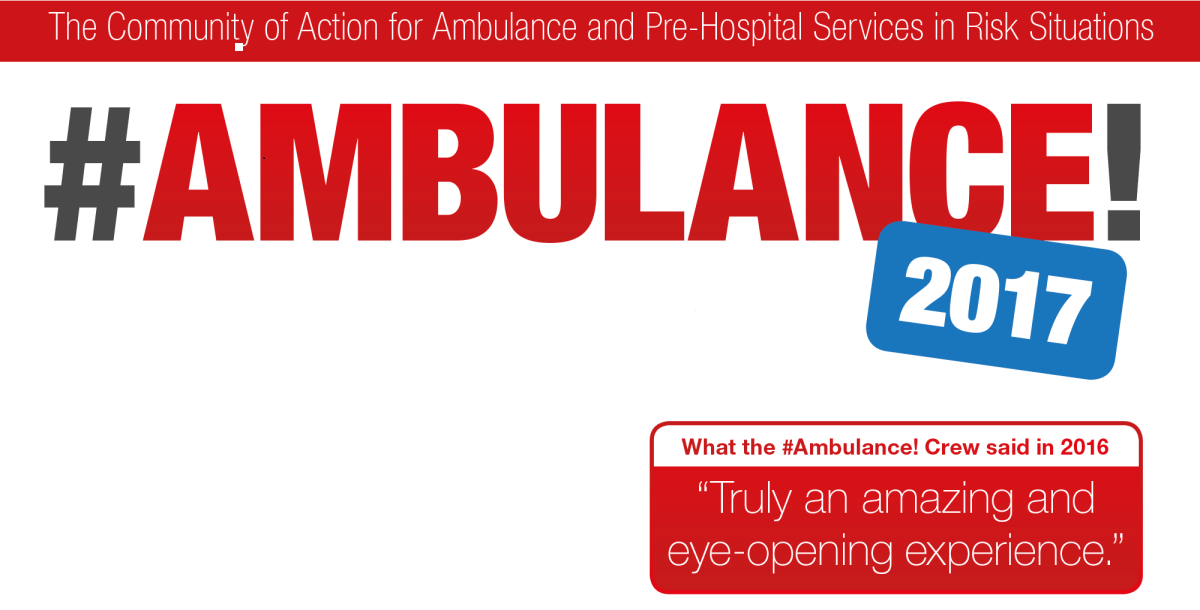 #AMBULANCE! 2017 – Join the #ambulance! initiative to increase health care awareness