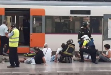 Heavy train smash in Barcelona – At least 48 injured people
