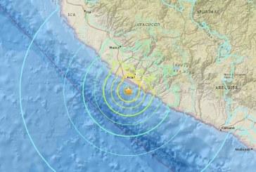 Violent earthquake in Peru tonight