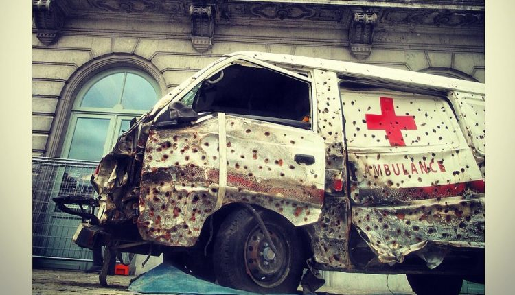 health care-ambulance-red cross-armed conflict- paramedics-war