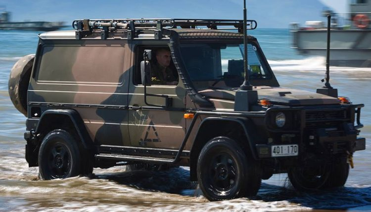 Epsilor's 6T NATO battery on a Mercedes-Benz command vehicle