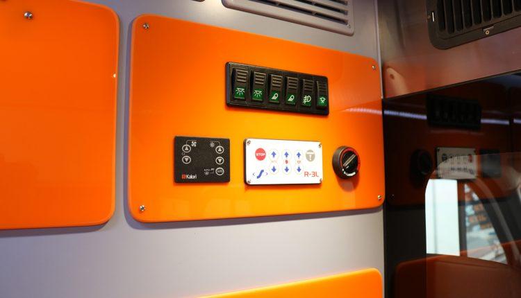 Basic commands and electronical controls inside a spanish ambulance