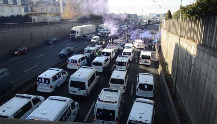 ambulance paris strike 2018