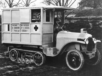 red cross war ambulance from denmark