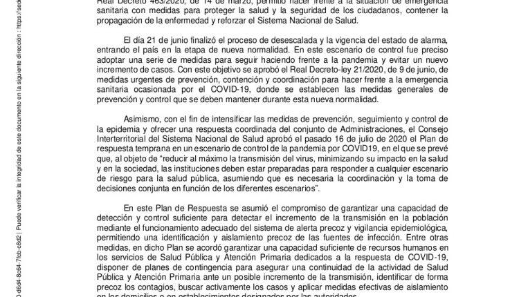 Emergency Live | COVID-19 na Espanha: debates sobre novas restrições do Ministério da Saúde imagem 10