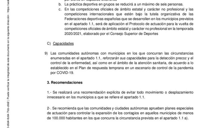 Urgence en direct | COVID-19 en Espagne: débats sur les nouvelles restrictions par le ministère de la Santé image 8