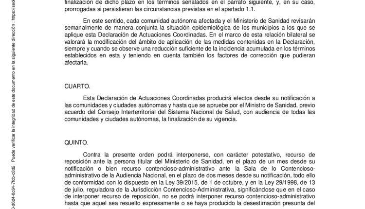 Urgence en direct | COVID-19 en Espagne: débats sur les nouvelles restrictions par le ministère de la Santé image 9