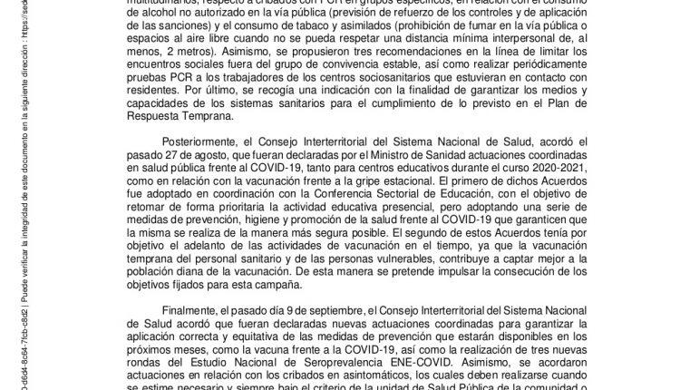 Urgence en direct | COVID-19 en Espagne: débats sur les nouvelles restrictions par le ministère de la Santé image 11