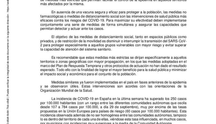 Urgence en direct | COVID-19 en Espagne: débats sur les nouvelles restrictions par le ministère de la Santé image 1