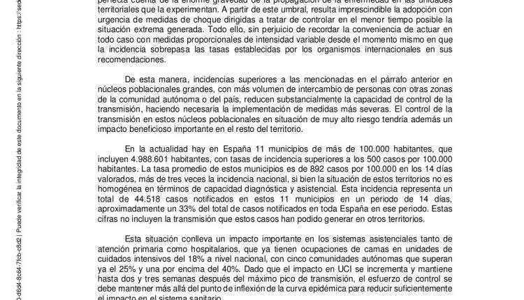 Urgence en direct | COVID-19 en Espagne: débats sur les nouvelles restrictions par le ministère de la Santé image 2