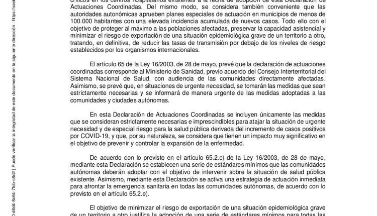 Urgence en direct | COVID-19 en Espagne: débats sur les nouvelles restrictions par le ministère de la Santé image 3