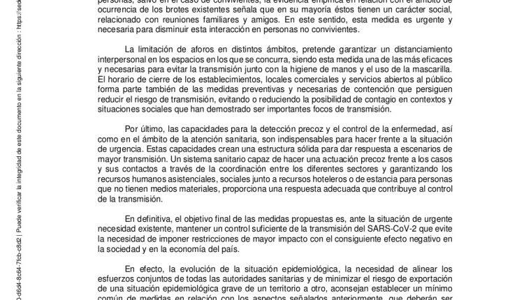 Urgence en direct | COVID-19 en Espagne: débats sur les nouvelles restrictions par le ministère de la Santé image 4