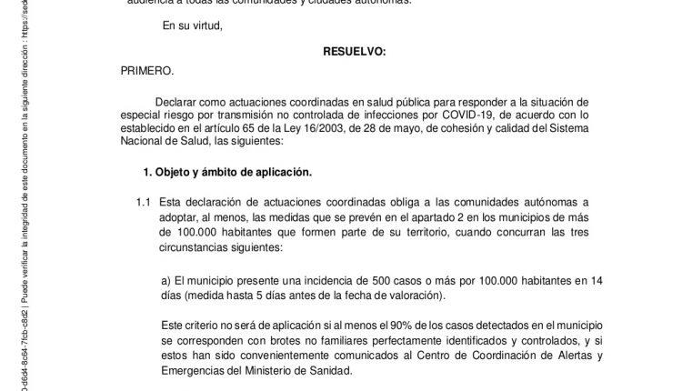 Urgence en direct | COVID-19 en Espagne: débats sur les nouvelles restrictions par le ministère de la Santé image 5