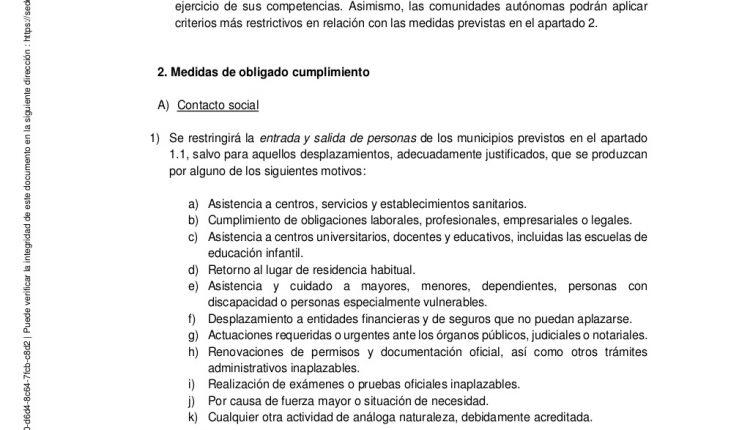 Urgence en direct | COVID-19 en Espagne: débats sur les nouvelles restrictions par le ministère de la Santé image 6